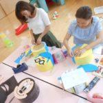 子育て支援センター 母親講座『丸いす作り』